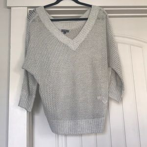 Gray Vneck Sweater